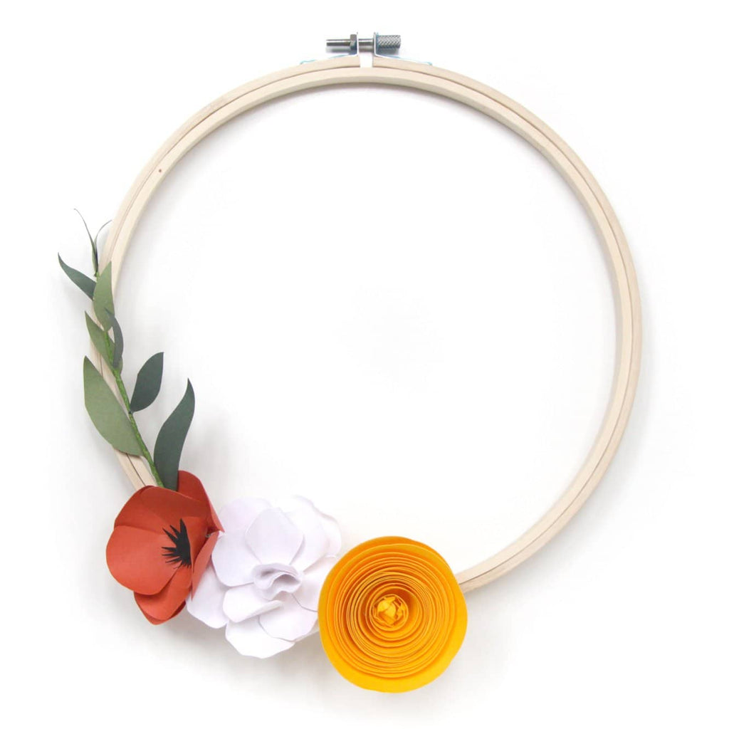 Botanical Paper Art : Flower Wreath