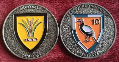 Commemorative Challenge Coin - Sector 10 - 10 Armoured Squadron