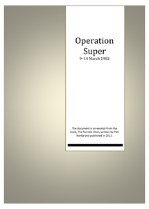 Operation Super: 9 - 14 March 1982 (Pieter Nortje)  ***FREE eBook, 49 pages***