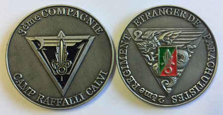 Challenge Coin: French Foreign Legion - 2nd Foreign Parachute Regiment (3rd Company)