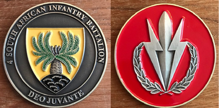 Commemorative Challenge Coin - 4 SA Infantry Battalion