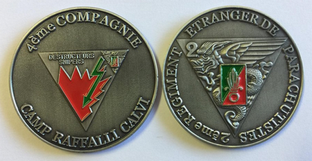 Challenge Coin: French Foreign Legion - 2nd Foreign Parachute Regiment (4th Company)
