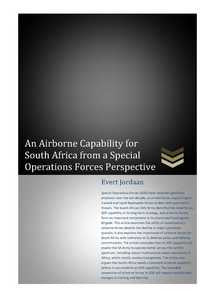 An Airborne Capability For South Africa From A Special Operations Forces Perspective (eBook)