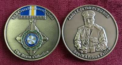 """The Brave Collection"" Challenge Coin - Andre L. Du Toit PCFG, SOE"