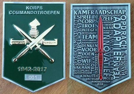 Commemorative Challenge Coin - Dutch Korps Commandotroepen