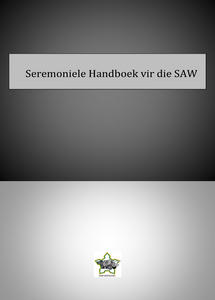 Seremoniele Handboek vir die SAW - 1971   ***eBook, 216 pages***