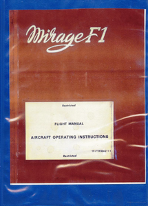 Mirage F1 Flight Manual  ***eBook, 84 pages***