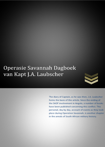 Operasie Savannah Dagboek Van Kapt. J.A. Laubscher ***FREE eBook, 24 pages**