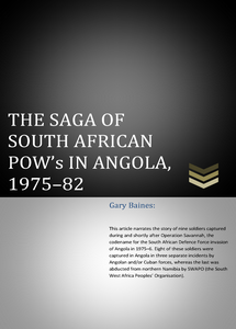 The Saga Of South African POW's In Angola, 1975–82 ***FREE eBook, 41 pages**