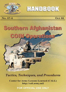 Southern Afghanistan COIN Operations Handbook (eBook)
