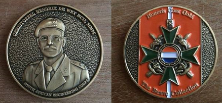 """The Brave Collection"" Challenge Coin - Stoffel de Wet HCG MMM"