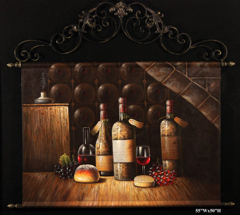 Wine Bottles Tapestry