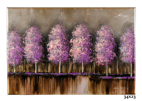 Metallic Silver w/Purple Trees