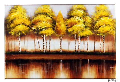 Birch Trees Yellow