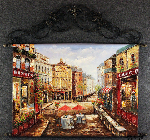 Cafe Storefront Tapestry