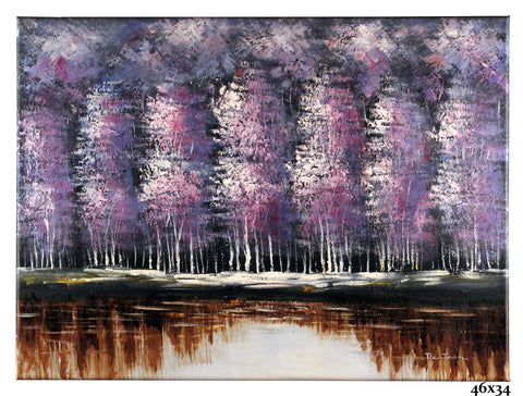 Birch Trees Purple