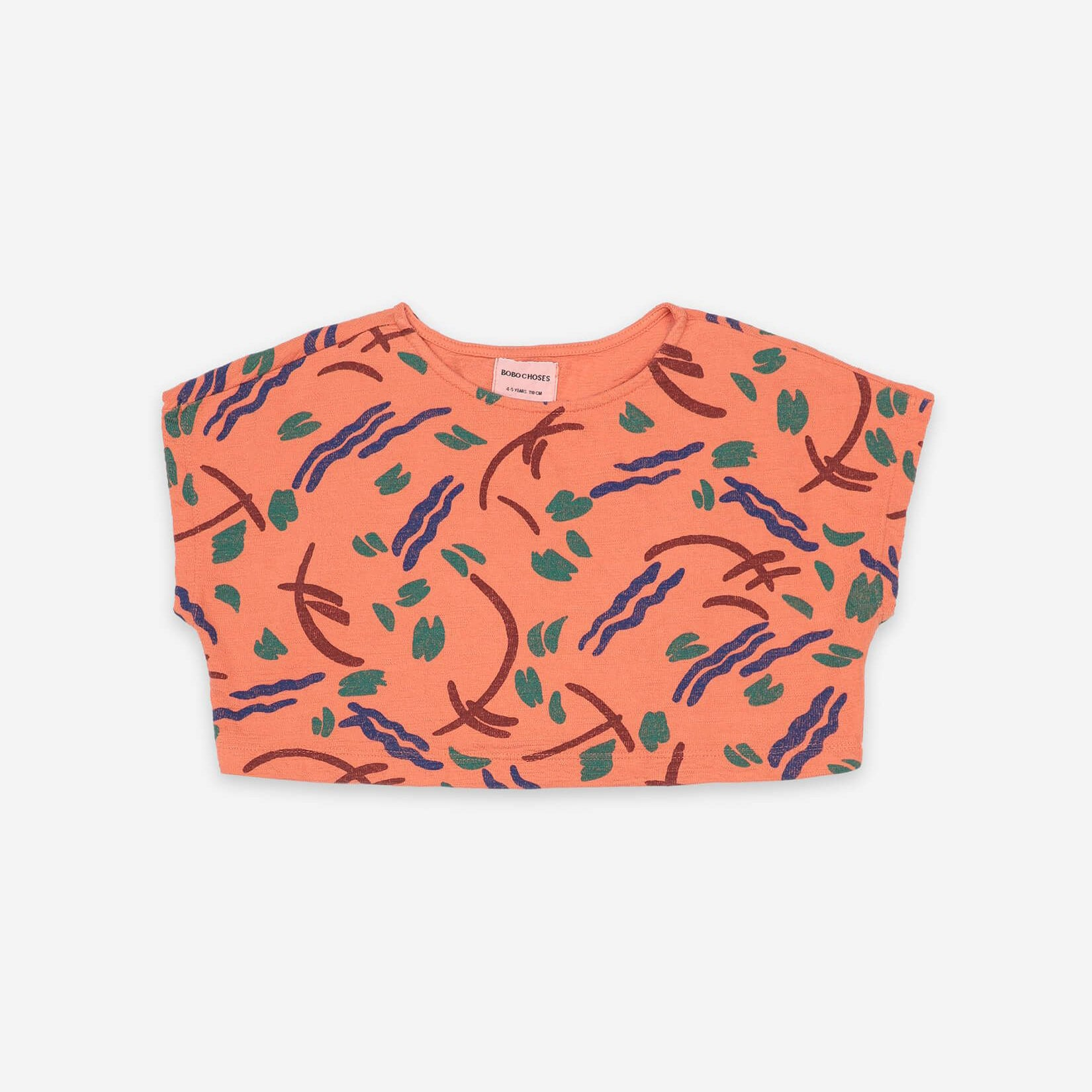 Strokes All Over Cropped Sweatshirt 121AC024