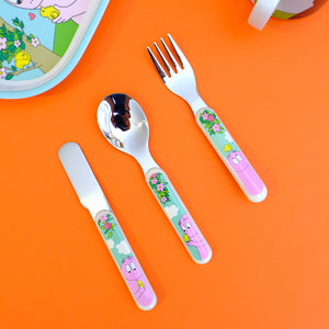 Barbapapa cutlery set