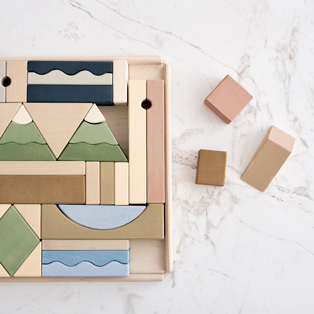 Mountains building blocks