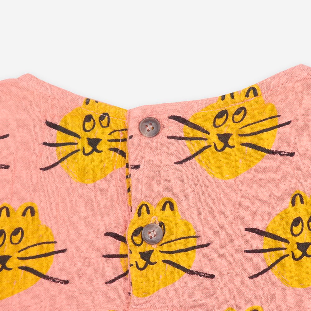Cat All Over long sleeve dress