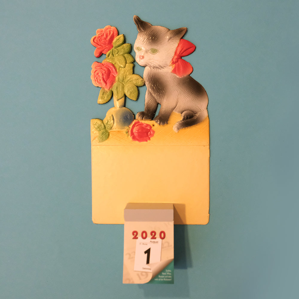 Vintage wall calendar set-Little kitten