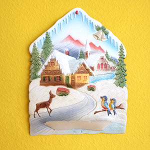 Winter wall decor-Village with Scenery
