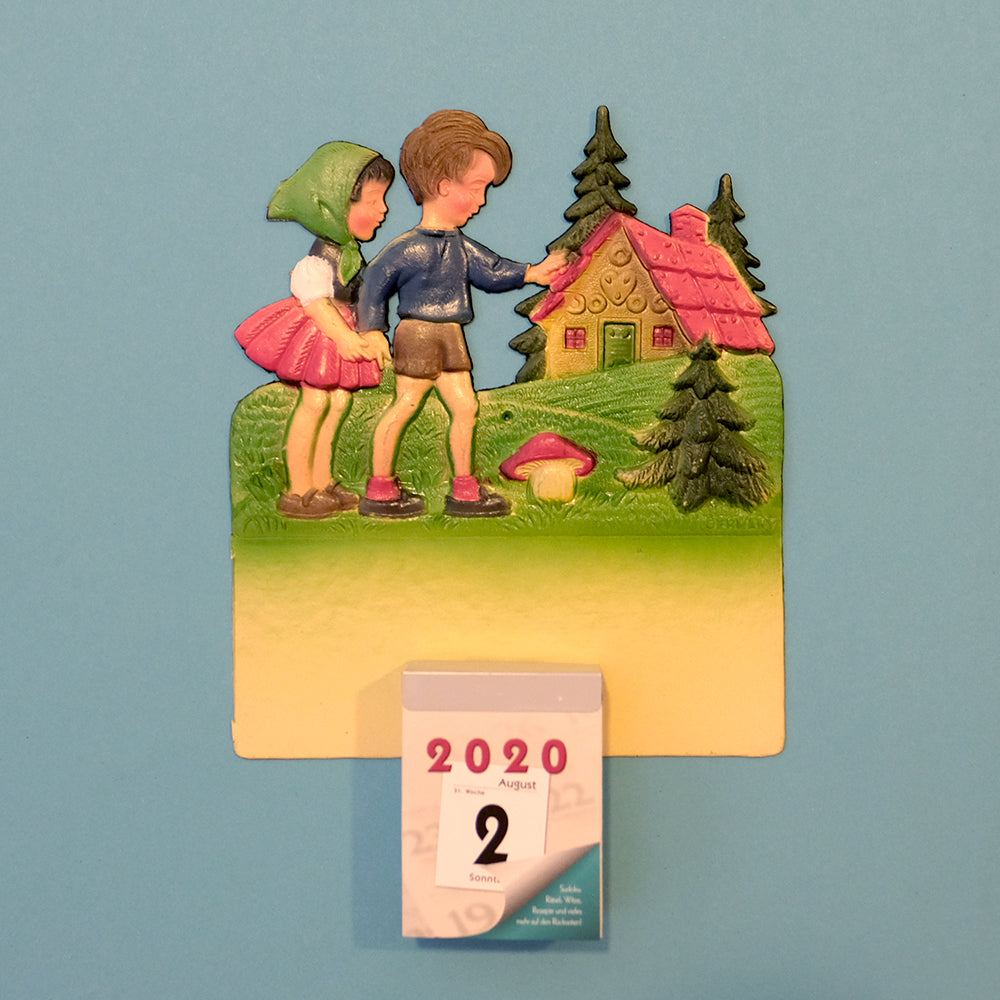 Vintage wall calendar set- Hänsel and Gretel