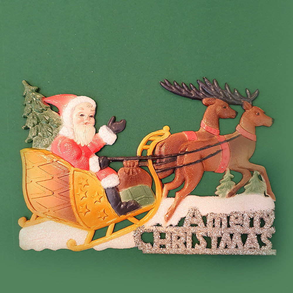 Vintage christmas decor-Santa's sleigh