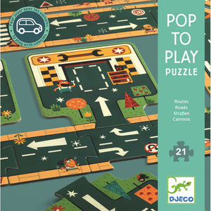 Pop to Play Puzzle - Roads