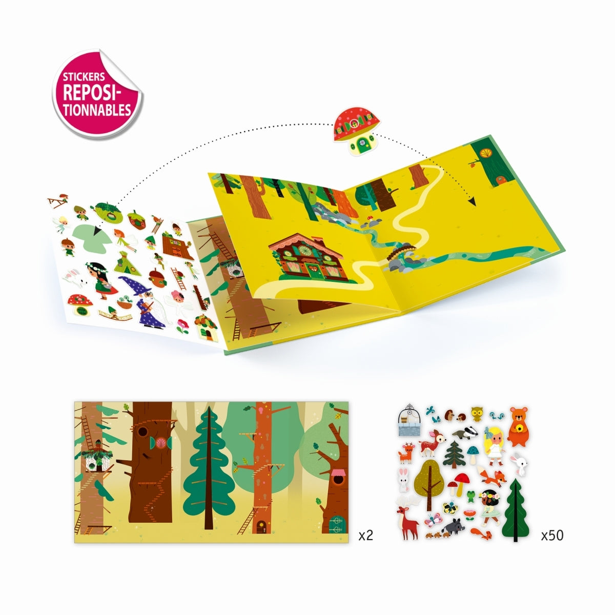 The Magical Forest Sticker Set