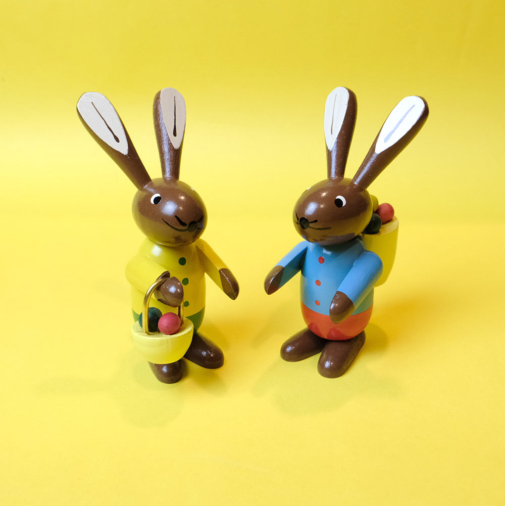 Easter & Spring Rabbit Couple with Basket