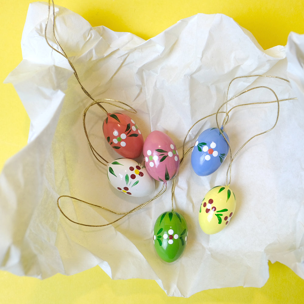 Small ornament easter eggs (6 eggs)