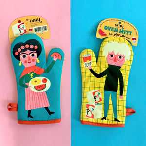 Oven Mitts for Art Lovers