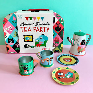 Animal Tin Tea Set & Suitcase