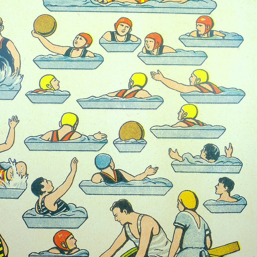 Vintage water sport poster - Summer Made