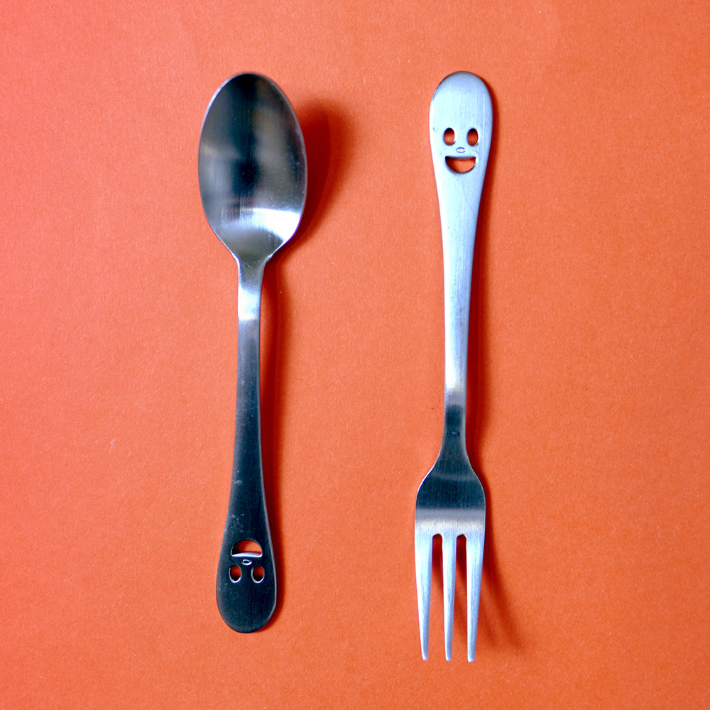 Smiling face cutlery
