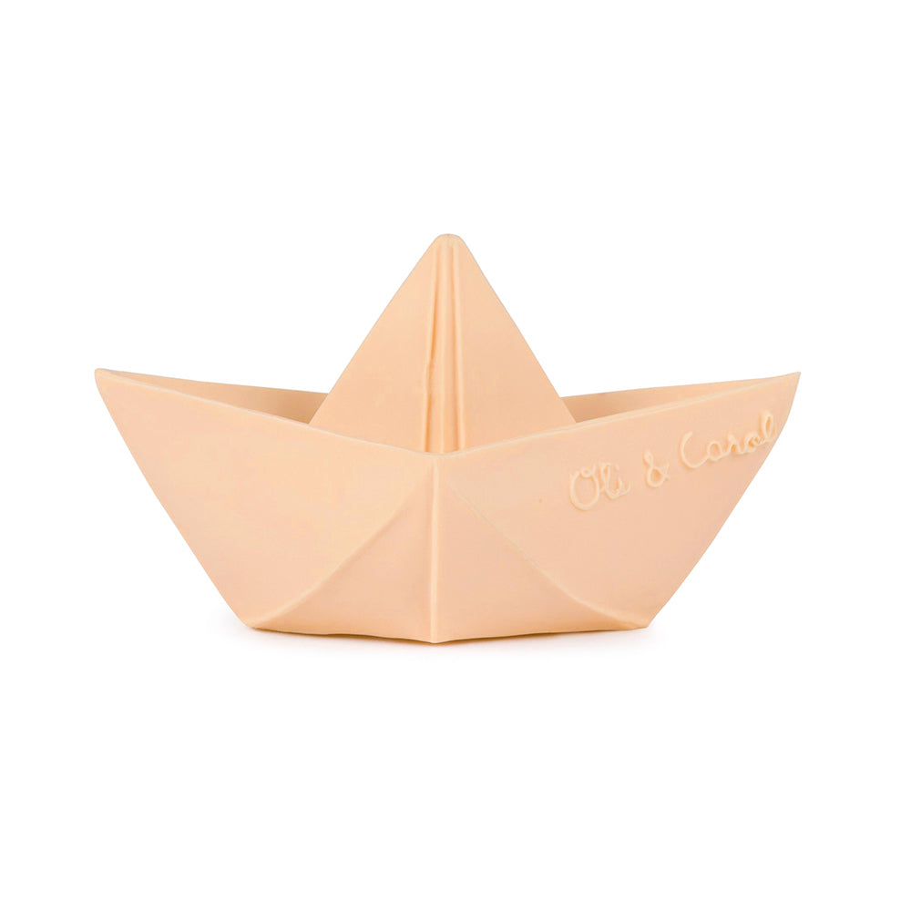 Origami boat baby toy