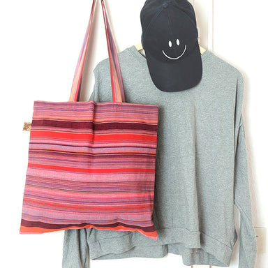 Cozy stripe tote bag - Summer Made