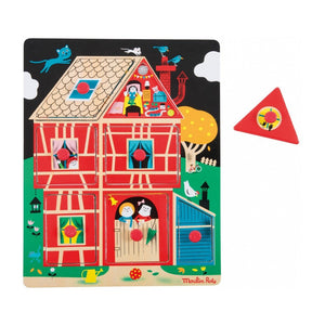 Home Sweet Home! wooden peg puzzle