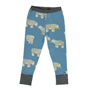Wool Mix Leggings - Polar Bear