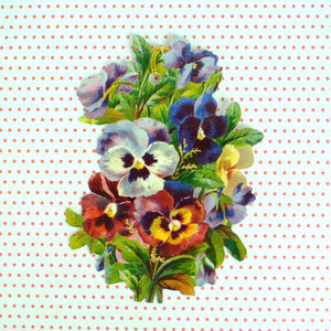 Pansy hanging tag - Summer Made