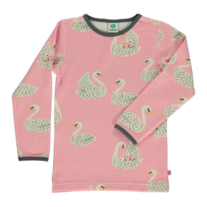 Wool Mix T-shirt - Swan