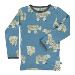 Wool Mix T-shirt - Polar bear