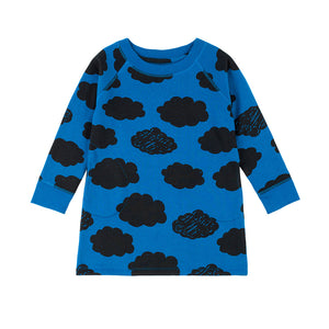 Sweatshirt dress - Blue clouds