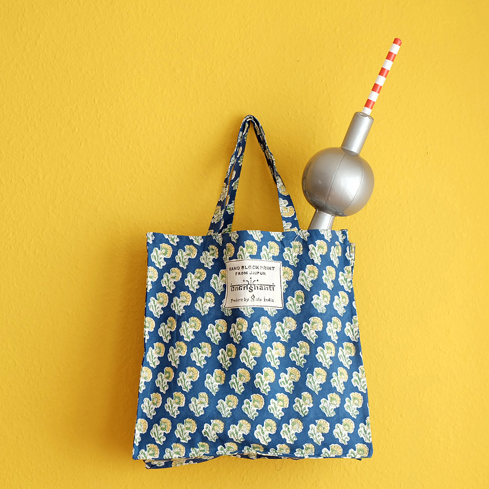 Colorful woodblock printed tote bag - Summer Made