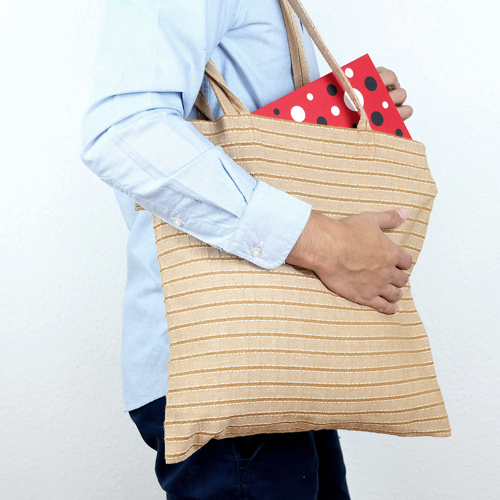 Brown striped bag - Summer Made