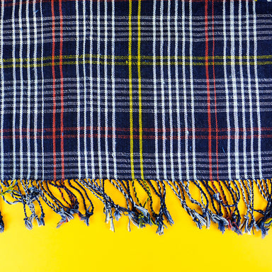 Old-School handwoven cotton Scarf - Summer Made