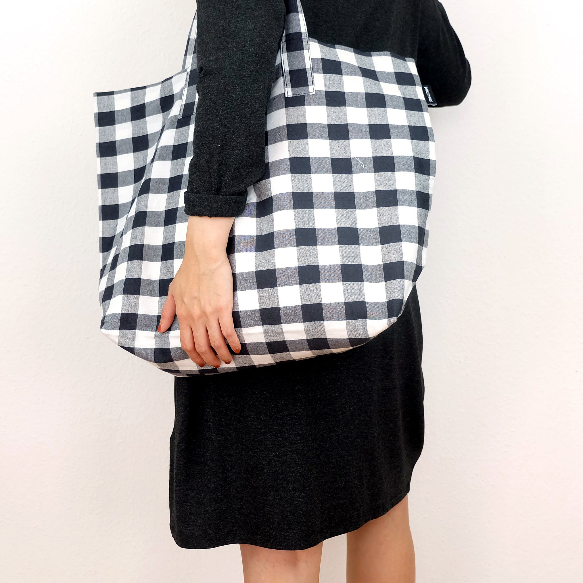 Large gingham tote - Summer Made