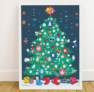 OMY CHRISTMAS TREE Giant poster & stickers