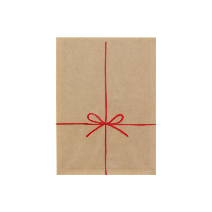 One Side Clear Bag - Red Ribbon